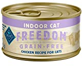 Blue Buffalo Freedom Grain Free Natural Adult Pate Wet Cat Food, Indoor Chicken 3-oz cans (pack of 24)