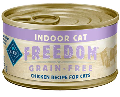 Freedom by Blue Buffalo Freedom Grain Free Natural Adult Pate Wet Cat Food, Indoor Chicken 3-oz cans (pack of 24)