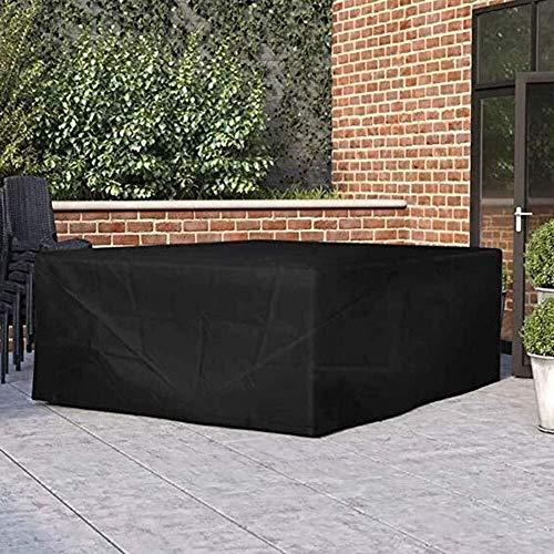 KEANCH Cortile terrazza Tavolo e Sedia Copertura Antipolvere Divano for Outdoor Mobili da Giardino Cura (Color : Black, Size : 200x140x90cm)