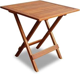 vidaXL Bois Acacia Massif Table Basse Extérieur Salon Jardin Table d'Appoint