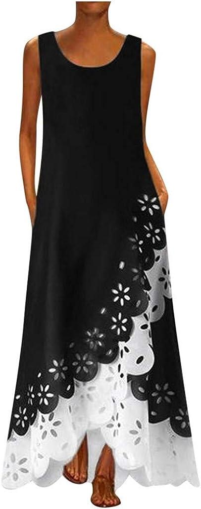 UQGHQO Dresses for Women Popular Popularity product Casual Floral Print O-Nec Women's Dress