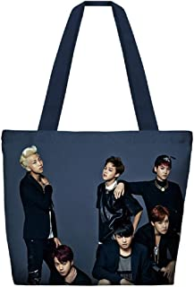PINGJING BTS Full Color Eco-Friendly Thickness Canvas Bag Girls Should and Hand Bag