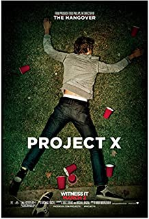 Project X (2012) 8 inch by 10 inch PHOTOGRAPH Boy Lying on Grass Full Body Title Poster kn