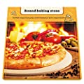 """Kenley Pizza Stone Set for Baking & Cooking Pizzas & Bread in Oven, Grill or BBQ - Rectangular Stone 16.5""""x14.5"""", Wood Pizza Peel & Brush - Large Ceramic Pan Cooks Pizza Evenly & Gives Crispy Cru"""