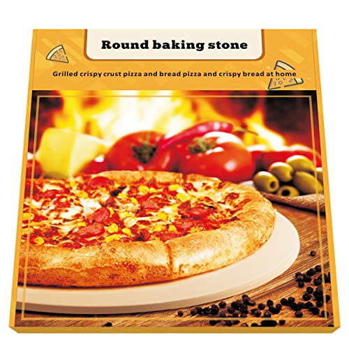 "Pizza Stone, 15"" Premium Pizza Stone for Baking Pizza in an Oven or BBQ Grill like a Pro Heat Retaining and Perfect for Deep Dish or Thin Crust Pizza"