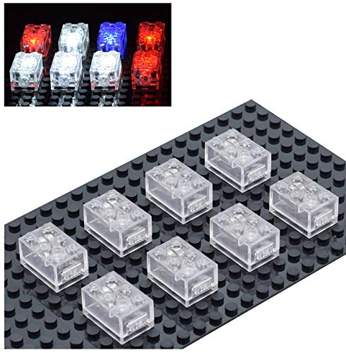 Sawaruita Light Building Blocks Classic Creative Bright Supplement, Electric Clear Transparent Brick, Compatible with All Major Brands Kids Games