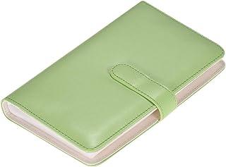 Festnight 108 Pockets Portable Mini Photo Album PU Leather Photo Picture Book Album with Magnetic Closure 90 Color Films P...