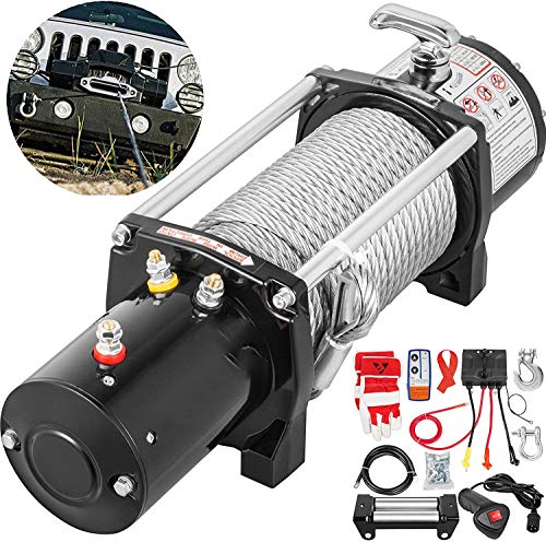 VEVOR Truck Winch 13000Ibs Electric Winch 85ft Cable Steel 12V Power Winch Jeep Winch with Wireless Remote Control and Powerful Motor for UTV ATV & Jeep Truck and Wrangler Accessories in Car Lift