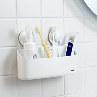 Bathlux浴室用ラック真空吸盤ラックシャワーラック穴あけなし取り外し可能な防水浴室ウォールシェルフシャワーバスケット吸盤収納バスケット