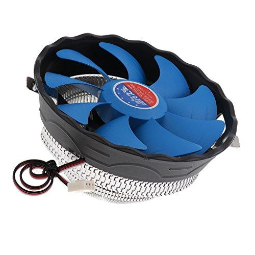 prasku 1 Uds CPU Enfriador Ventilador de Refrigeración Silencioso Disipador de Calor de Cobre para AMD Socket AM2 / AM3 / FM1