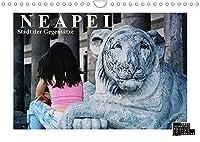 Neapel - Stadt der Gegensaetze (Wandkalender 2022 DIN A4 quer): Analoge Fotografie. Eine Burg am Hafen, enge Gassen, gruene Parks, ein verstecktes Kloster und die grandiose Sicht auf den Golf: Neapel! (Monatskalender, 14 Seiten )