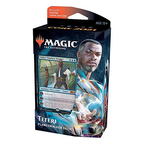 Magic: The Gathering Teferi Timeless Voyager Planeswalker Deck   Core Set 2021 (M21)   60 Card Starter Deck