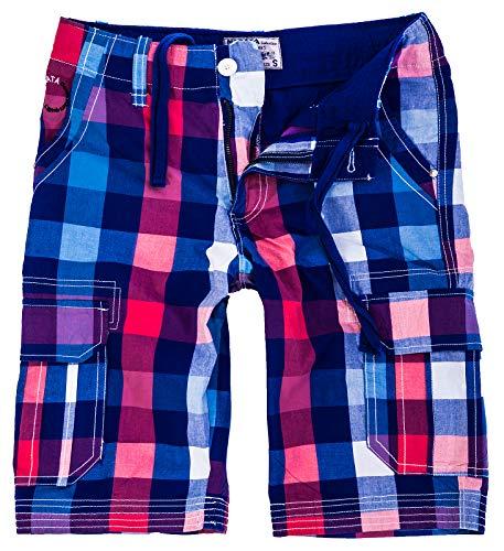 Rock Creek Herren Karoshorts Bermuda Hose CAGO-Shorts Sommer Hose kurz Shorts Herrenshorts H-158 S Blue8