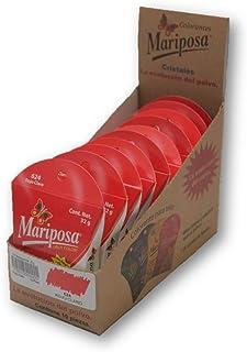 Mariposa Cristales Rojo Claro 624 Colectiva Con 10 Piezas