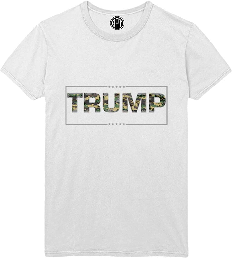 Trump in Camo Printed T-Shirt