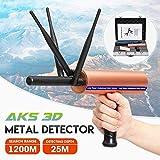 Detector de metales de mano, detector de oro mini portátil con 3 Antena ajustable de largo alcance Buscador de diamante DDLS (Color : Rose Gold, Size : -)