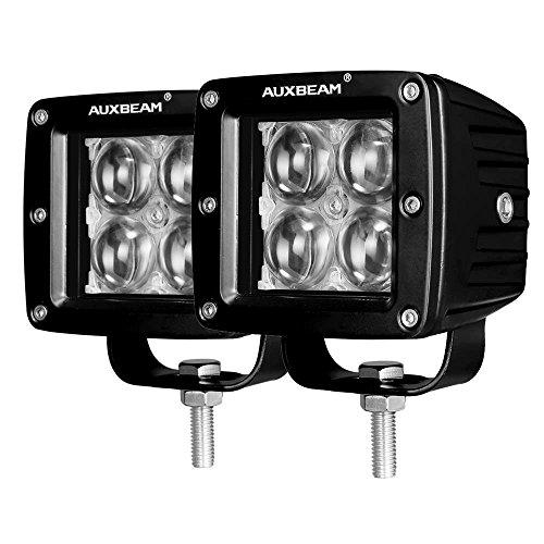 Auxbeam 3 Inch LED Light Bar 20w LED Pods Fog Lights Square Cube Lights Spot Beam Driving Light Waterproof for Offroad Truck 4WD SUV ATV UTV (Pack of 2)
