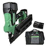 Metabo HPT Cordless Framing Nailer Kit, 18V, Brushless Motor, 2-Inch up to 3-1/2-Inch Clipped & Offset Round Paper Strip Nails, 3.0 Ah Lithium Ion Battery (NR1890DCS)