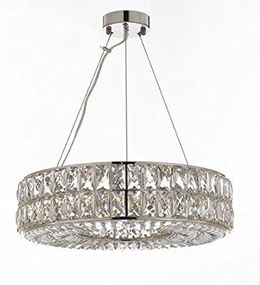 comtemporary lighting external crystal nimbus ring chandelier chandeliers moderncontemporary lighting pendant 20 wide good for floating orb