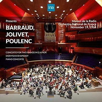 INA Presents: Barraud, Jolivet, Poulenc by Orchestre National de France at the Maison de la Radio (Recorded 19th November 1964)