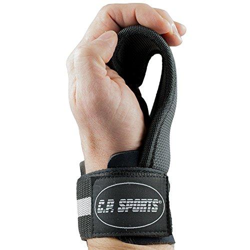 C.P. Sports Power Pads, Crochet de Traction, Aide à la Traction, Musculation, Fitness pour Hommes et Femmes, Fitness, Bodybuilding