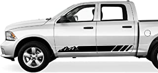 Bubbles Designs 2X Decal Sticker Graphic Side Mountain Stripes Compatible with Dodge Ram 2009-2017 1500 2500