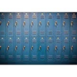 Leyiyi 10x8ft Vinyl Photography Background Blue Retro Locker Swimming Pool Dressing Room School Door Design Backdrop Boys Girls Photos Digital Video Studio Props