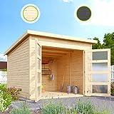 Hori® Gartenhaus I Gerätehaus Herning aus Holz I nordische Fichte Natur I 242 x 246 cm - 19 mm...