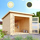 HORI Gartenhaus I Gerätehaus Herning aus Holz I nordische Fichte Natur I 242 x 246 cm - 19 mm Bohlenstärke