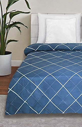 MORADO Super Soft Single Bed Quilt Cover / Duvet Cover / Rajai Cover / Blanket Cover with Zipper (60 X 90 Inches, Blue)