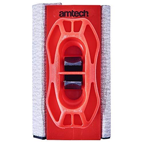 Amtech Am-Tech E0258 Mini Bloc de ponçage, Rouge, Red