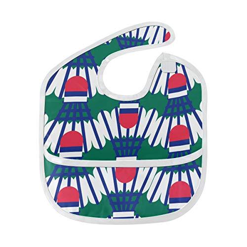 Übung Spaß Sport Badminton Ball weich wasserdicht waschbar Fleck und Geruch beständig Baby Fütterung Dribble Sabbern Lätzchen Spucktücher für Kleinkind insgesamt für 6-24 Monate Kinder Geschenke