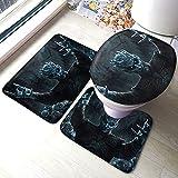 YICHIBAOEL Juego de Tronos TV Show Baño Antiskid Pad Mats Floor Mat U Cubierta de Inodoro de Tres Piezas Super Suave Microfibra Antideslizante Juego de baño Asiento de Inodoro