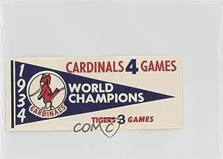 1934 St. Louis Cardinals (Baseball Card) 1961 Fleer Baseball Greats - World Series Pennant Decals #1934