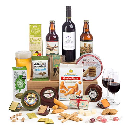 Hay Hampers - Something for Everyone for Christmas- Beer, Wine & Cheese Hamper Gift Box - Free UK Delivery