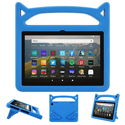 All-New 8 Tablet Kids Case, 8 inch Tablet 2020 Case for Kids,Dinines Lightweight Shockproof Handle Friendly Stand Kid-Proof Case for 8 inch Display Tablet Cover(10th Generation, 2020 Release)