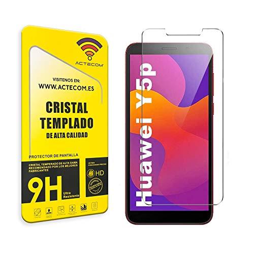 ACTECOM® PROTECTOR PANTALLA COMPATIBLE CON HUAWEI Y5p CRISTAL HUAWEI Y5p VIDRIO TEMPLADO