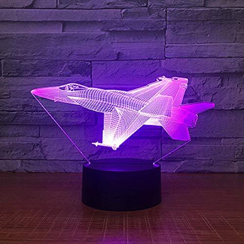 7 colores cambiantes 3D LED luz nocturna atmósfera lámpara decoración lámpara niños Navidad Halloween - Base ABS - Alimentado por USB - ojos ahorro de energía - Adecuado para sala de estar, bar fiesta
