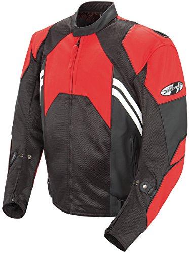 Joe Rocket Radar Men's Motorcycle Jacket (Red/Black, Size 46)
