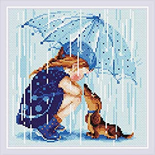 "Cross Stitch Kit Miss Sunshine 8.25/"" x11.75/"" Riolis Lady 14 Count"