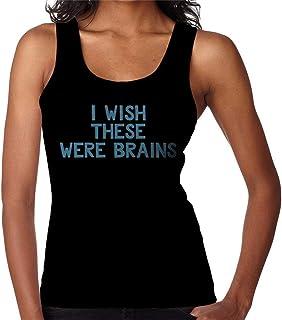 RHEYJQA I Wish These were Brains Women's Vest