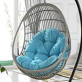 ABTSICA Jardin Terrasse Chaise Balançoire Rotin Oeuf en Osier Chaise Suspendue Hamac Chaise Suspendue Coussin De Grande…