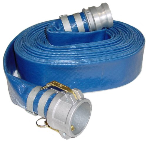 Abbott Rubber PVC Discharge Hose Assembly, Blue, 2 in. Male X Female Cam and Groove, 65 psi Max Pressure, 50 ft. Length, 2 in. ID