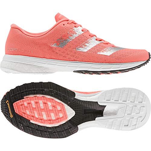 Adidas Adizero Adios 5 w, Zapatillas para Correr para Mujer, Signal Coral/Silver Met./Core Black