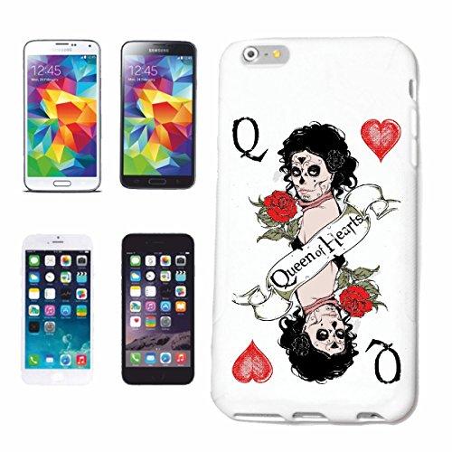 Hoes voor mobiele telefoon compatibel met Samsung Galaxy S8 Queen of Hearts kaartenspel Casino geluksspel Casino bikershirt kaartenspel spel spel geluksspel Hardca