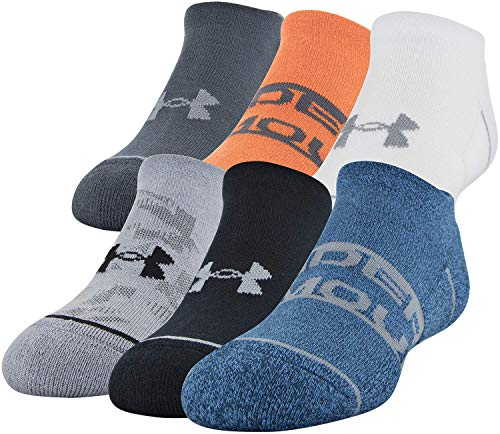 Under Armour Essential Lite Lot de 6 paires de chaussettes unisexe pour enfant, Fille, Chaussettes, U280, Bleu/assorti., Shoe Size: 0-4