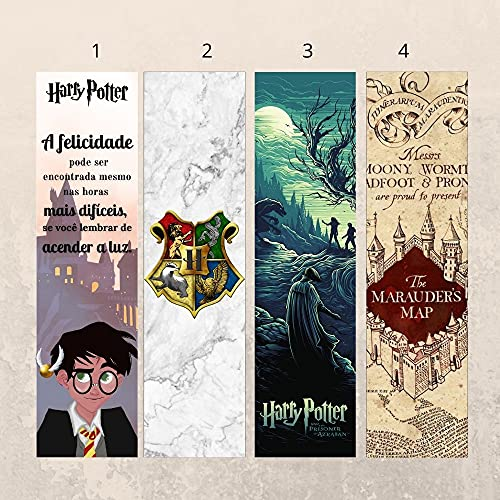 Marcadores de página - Harry Potter (kit com 4 unidades)