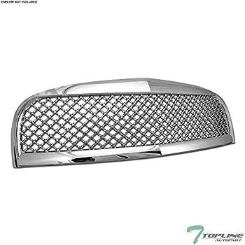 Topline Autopart Matte Black Mesh Front Hood Bumper Grill Grille ABS For 06-11 Chevy HHR