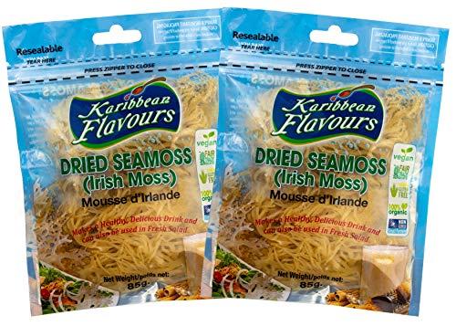 Premium Irish Moss Superfood 2-Pack (2 x 3 Oz)   Wildcrafted   Non GMO   Organic   Vegan   Hand Picked   Sun Dried   Makes Perfect Gel