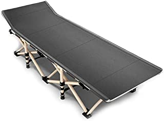 Rollaway Camping Cot Single Be'd with Metal Frame, Portable Foldable Folding Guest Be'ds for Adults, Support 200kg, 190x71...